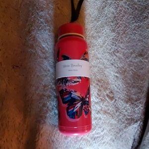 Vera Bradley butterfly flutter pink water bottle.